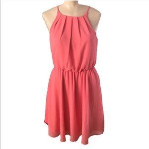 Coral Spaghetti Strap Dress! Size S.
